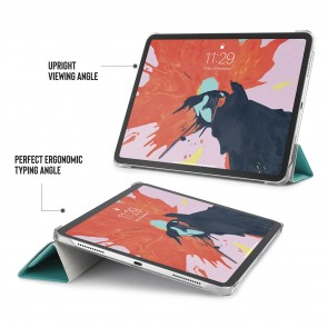 iPad Pro 11 Case Origami Luxe - Turquoise & Clear
