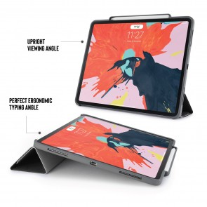 iPad Pro 12.9 (3rd Gen) Origami Pencil Case 5-in-1 Ruggedised Case - Black