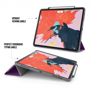 iPad Pro 12.9 (3rd Gen) Origami Pencil Case 5-in-1 Ruggedised Case - Purple