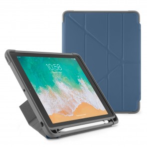 Pipetto iPad 9.7-inch Origami Shield Case Royal Navy - Front