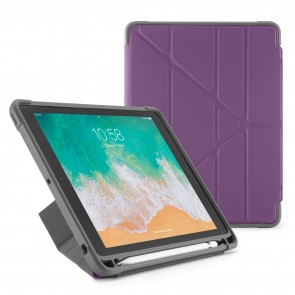 Pipetto iPad 9.7-inch Origami Shield Case Royal Purple - Front