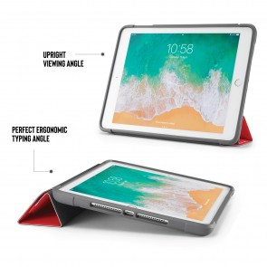 iPad 9.7 Case Origami Shield 5-in-1 Ruggedised Case - Red