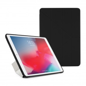 Pipetto iPad Air 10.5 and iPad Pro 10.5 Origami TPU Case Black and Clear - Front