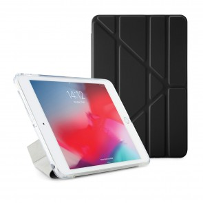 Pipetto iPad mini 5 / iPad mini 4 Origami TPU Luxe Case Black and Clear - Front