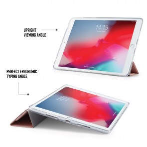 iPad Air 10.5 / Pro 10.5 TPU Luxe Origami - Dusty Pink & Clear
