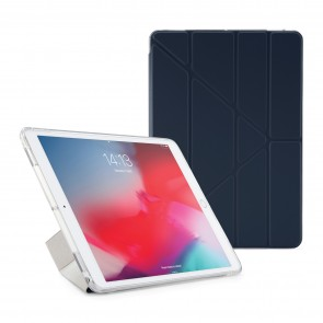 Pipetto iPad Air 10.5-inch and iPad Pro 10.5 TPU Luxe Case Navy and Clear - Front