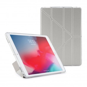 Pipetto iPad Air 10.5-inch and iPad Pro 10.5 TPU Metallic Case Silver and Clear - Front
