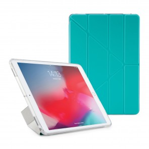Pipetto iPad Air 10.5-inch and iPad Pro 10.5 TPU Luxe Case Turquoise and Clear - Front