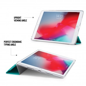 iPad Air 10.5 / Pro 10.5 TPU Luxe Origami - Turquoise & Clear