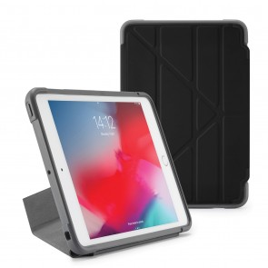 Pipetto iPad mini 5 / iPad mini 4 Origami Shield Case Black - Front