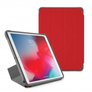 Pipetto iPad Air 10.5-inch and iPad Pro 10.5 Origami Shield Case Red - Front
