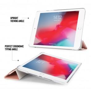 iPad mini 5 / iPad mini 4 Luxe Origami Case - Dusty Pink & Clear