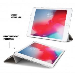 iPad mini 5 / iPad mini 4 Origami Metallic Case - Silver & Clear