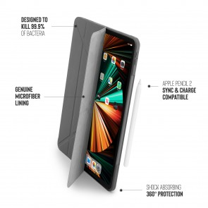 iPad Pro 12.9 (3rd, 4th & 5th) Origami No1 Original TPU Case - Dark Grey
