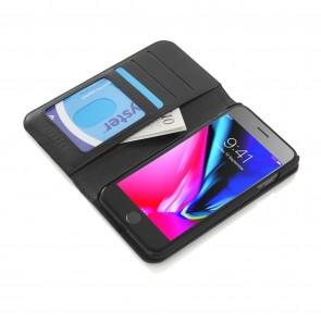iPhone 6/7/8 Plus 2-in-1 Leather Magnetic Folio Case - Black