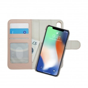 iPhone X Wallet Case [LRG] Magnetic - Dusty Pink