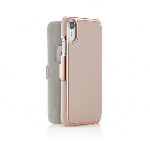 iPhone xr slim dusty pink - back open