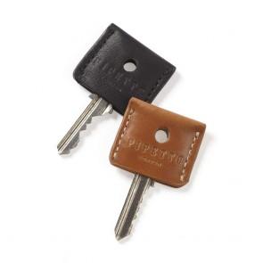Key Cover Set - Tan Black Leather  (2 per set)