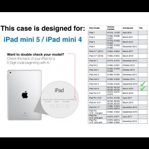 iPad mini 5 / iPad mini 4 Origami TPU Case - Purple & Clear
