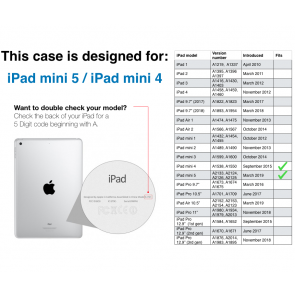 iPad mini 5 / iPad mini 4 Origami TPU Case - Navy & Clear