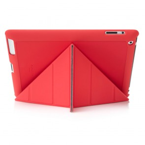iPad 2, 3, 4 Origami Case - Red