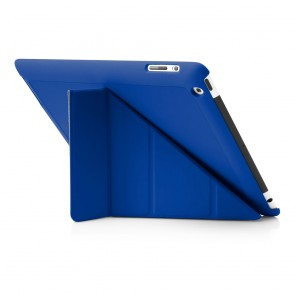 Pipetto iPad 2,3,4 Origami case - Royal Blue Back Exterior