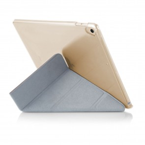 iPad 9.7 (2017 / 2018) Case Origami Rose Gold & Clear (Air 1 Compatible)