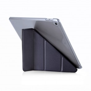 Pipetto 9.7-inch 2017 iPad Origami Luxe Navy and Clear Case - back exterior