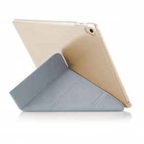 iPad 9.7 (2017 / 2018) Case Origami Luxe - Turquoise & Clear (Air 1 Compatible)