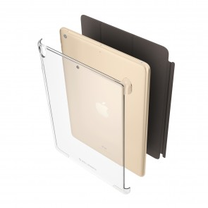 Smart Cover Compatible iPad 9.7 (2018) Protective Clear Shell Cover (Air 1, Air 2, Pro 9.7 & iPad 9.7 2017 Compatible)