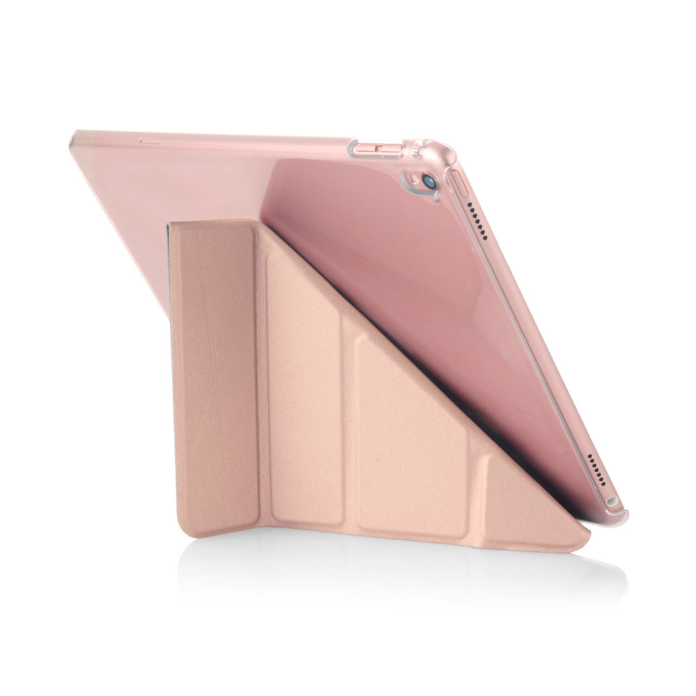 iPad Pro 9 7 Case Origami Clear & Rose Gold